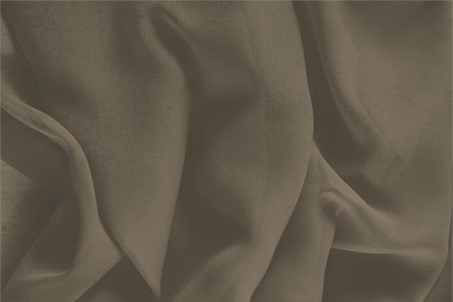 Buy online our clothing and fashion fabric 'Corteccia' Brown Silk Georgette, Made in Italy. - new tess