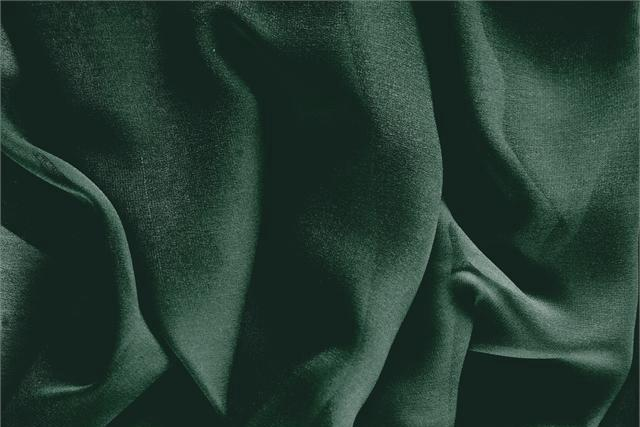 Buy online our clothing and fashion fabric 'Pino' Green Silk Georgette, Made in Italy. - new tess