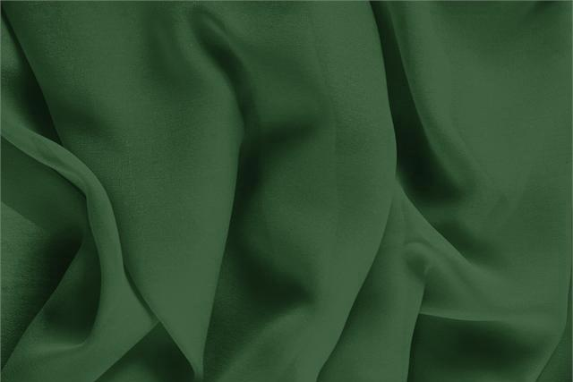 Buy online our clothing and fashion fabric 'Abete' Green Silk Georgette, Made in Italy. - new tess
