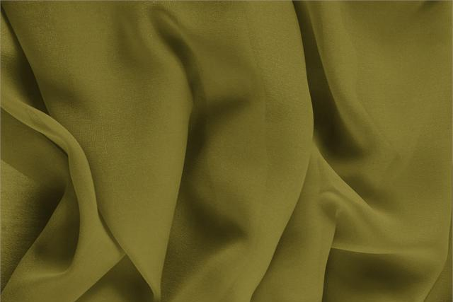 Foglia Green Silk Georgette fabric for dressmaking