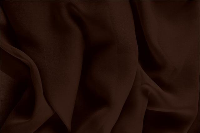 Caffe Brown Silk Georgette fabric for dressmaking