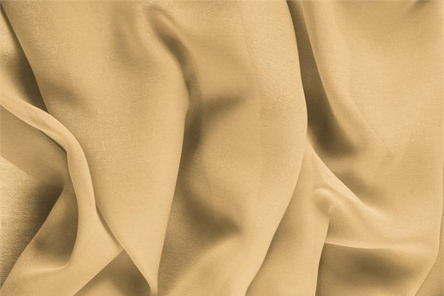 Buy online our clothing and fashion fabric 'Biscotto' Beige Silk Georgette, Made in Italy. - new tess