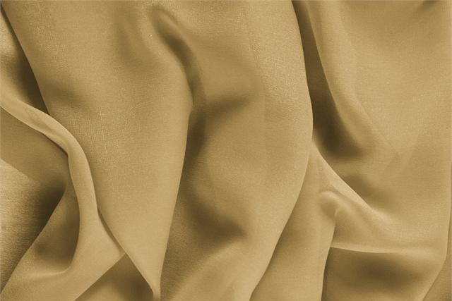 Buy online our clothing and fashion fabric 'Miele' Brown Silk Georgette, Made in Italy. - new tess