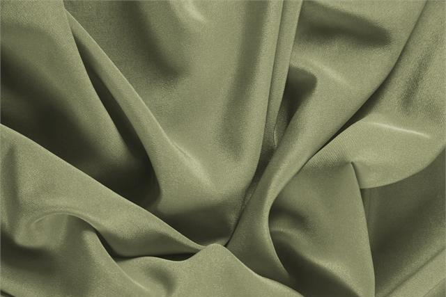 Buy online our clothing and fashion fabric 'Oliva' Green Silk Crêpe de Chine, Made in Italy. - new tess