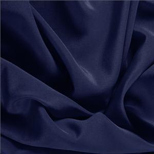Marine Blue Silk Crêpe de Chine Plain fabric for Dress, Shirt, Underwear.
