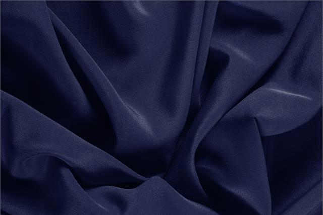 Buy online our clothing and fashion fabric 'Marine' Blue Silk Crêpe de Chine, Made in Italy. - new tess