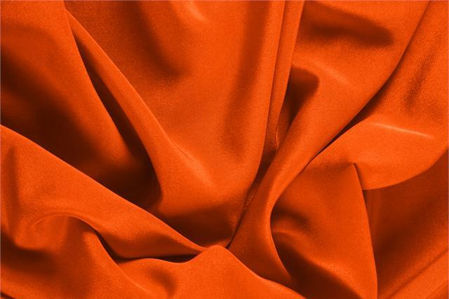 Buy online our clothing and fashion fabric 'Corallo' Orange Silk Crêpe de Chine, Made in Italy. - new tess