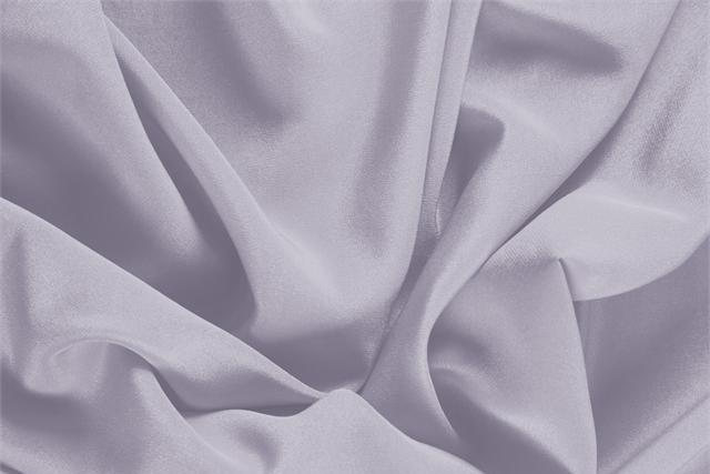Buy online our clothing and fashion fabric 'Peltro' Silver Silk Crêpe de Chine, Made in Italy. - new tess