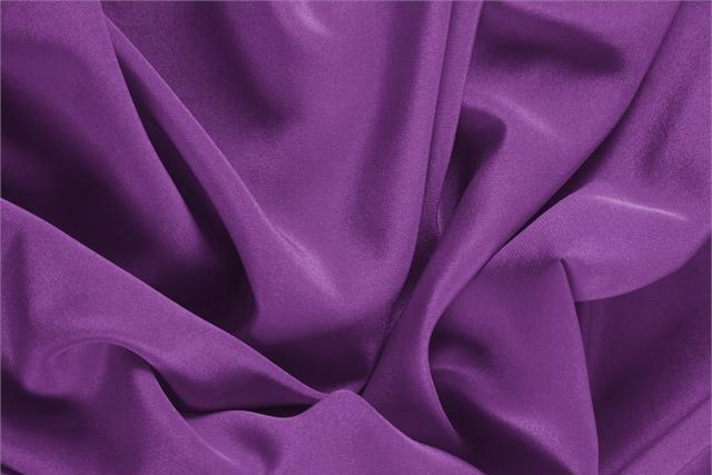 Buy online our clothing and fashion fabric 'Ametista' Purple Silk Crêpe de Chine, Made in Italy. - new tess