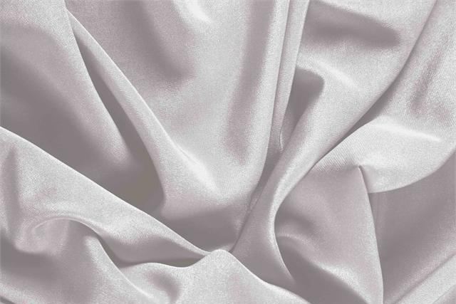 Buy online our clothing and fashion fabric 'Rugiada' Silver Silk Crêpe de Chine, Made in Italy. - new tess