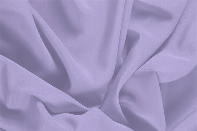 Buy online our clothing and fashion fabric 'Glicine' Purple Silk Crêpe de Chine, Made in Italy. - new tess