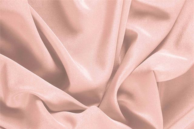 Buy online our clothing and fashion fabric 'Quarzo' Pink Silk Crêpe de Chine, Made in Italy. - new tess