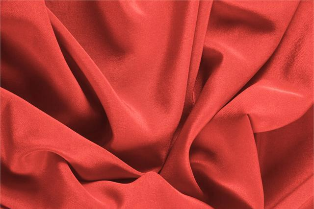 Geranio Pink Silk Crêpe de Chine fabric for dressmaking