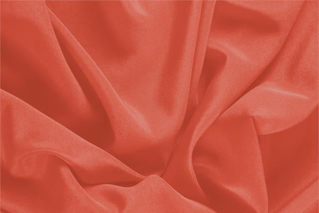 Buy online our clothing and fashion fabric 'Pomodoro' Orange Silk Crêpe de Chine, Made in Italy. - new tess
