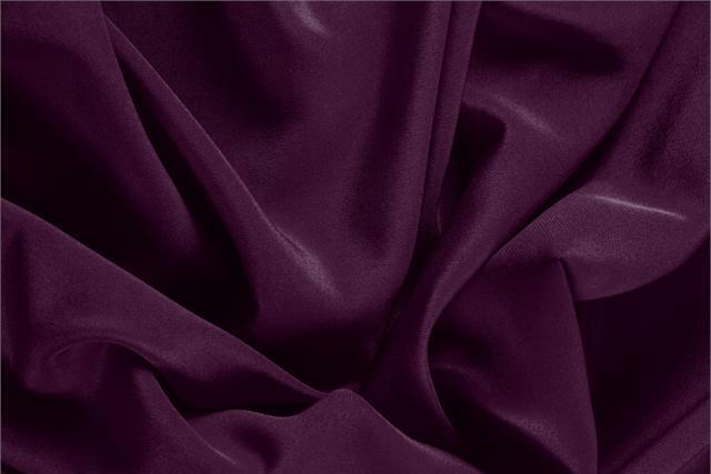 Buy online our clothing and fashion fabric 'Prugna' Purple Silk Crêpe de Chine, Made in Italy. - new tess