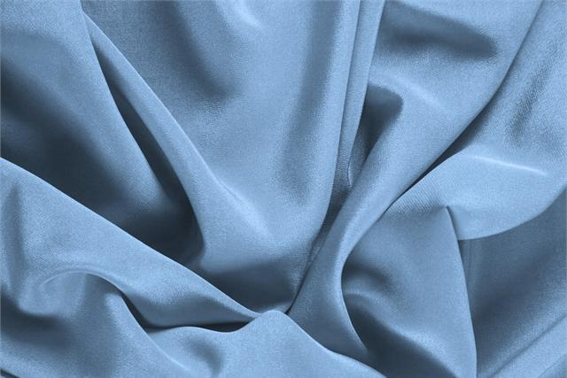Buy online our clothing and fashion fabric Crêpe de Chine Blue Fiordalisio, Made in Italy. - new tess