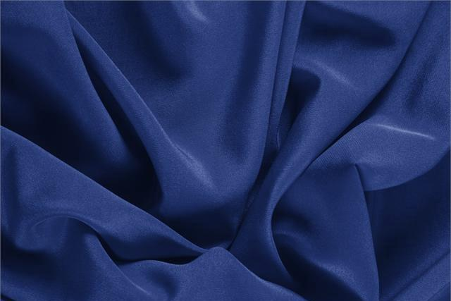 Buy online our clothing and fashion fabric 'Zaffiro' Blue Silk Crêpe de Chine, Made in Italy. - new tess
