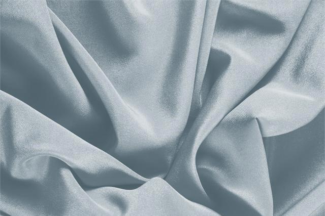 Buy online our clothing and fashion fabric 'Avio' Blue Silk Crêpe de Chine, Made in Italy. - new tess