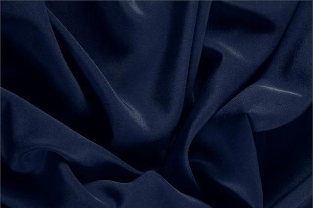 Buy online our clothing and fashion fabric 'Navy' Blue Silk Crêpe de Chine, Made in Italy. - new tess