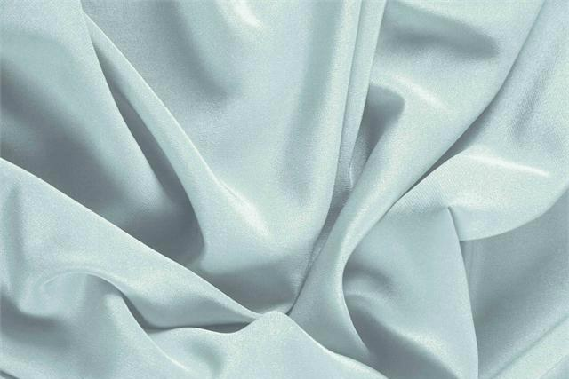 Buy online our clothing and fashion fabric 'Acqua' Blue Silk Crêpe de Chine, Made in Italy. - new tess