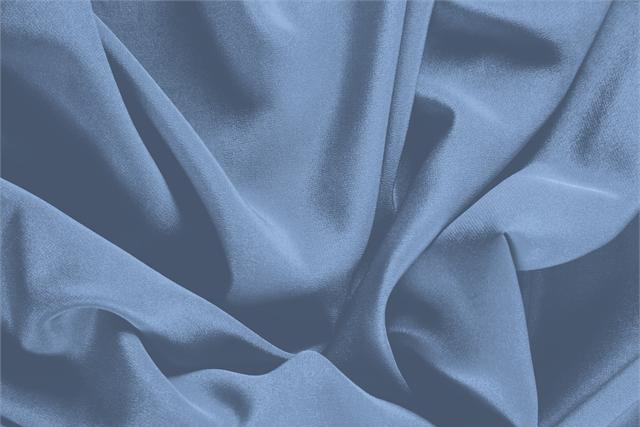 Buy online our clothing and fashion fabric 'Carta Da Zucch' Blue Silk Crêpe de Chine, Made in Italy. - new tess