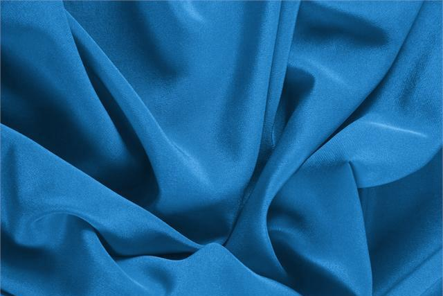 Buy online our clothing and fashion fabric 'Portofino' Blue Silk Crêpe de Chine, Made in Italy. - new tess