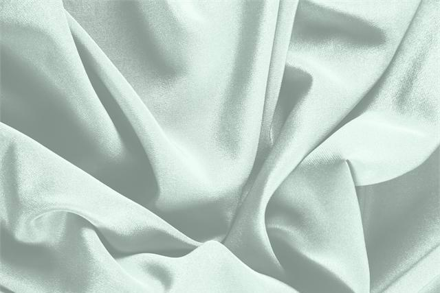 Buy online our clothing and fashion fabric 'Opale' Green Silk Crêpe de Chine, Made in Italy. - new tess