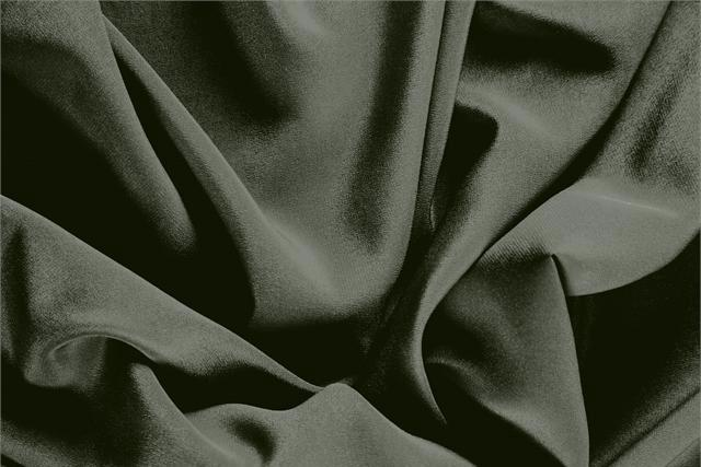 Buy online our clothing and fashion fabric 'Foresta' Green Silk Crêpe de Chine, Made in Italy. - new tess