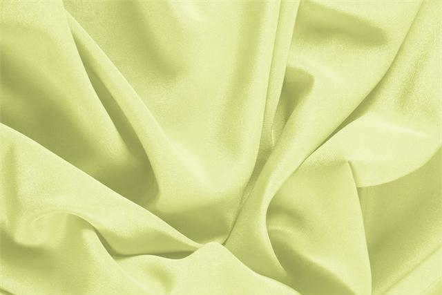 Tissu Crêpe de Chine Vert Lime en Soie pour vêtements