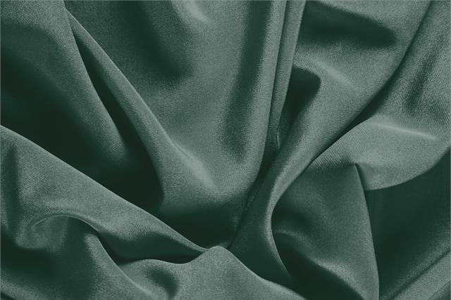 Buy online our clothing and fashion fabric 'Pino' Green Silk Crêpe de Chine, Made in Italy. - new tess
