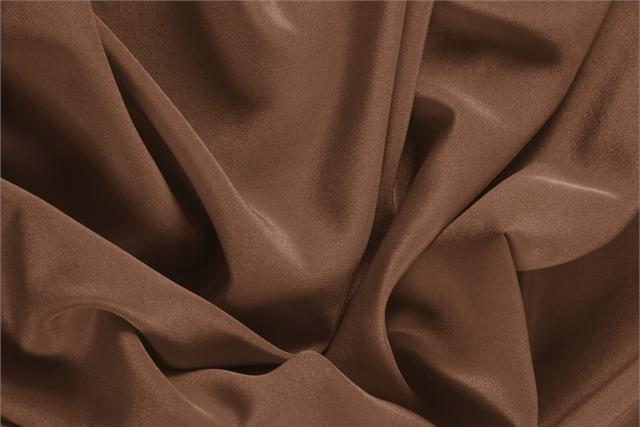 Buy online our clothing and fashion fabric 'Noce' Brown Silk Crêpe de Chine, Made in Italy. - new tess