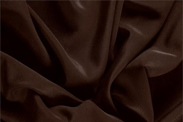 Caffe Brown Silk Crêpe de Chine fabric for dressmaking