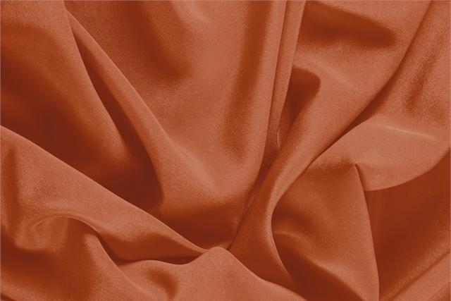 Buy online our clothing and fashion fabric 'Mattone' Brown Silk Crêpe de Chine, Made in Italy. - new tess