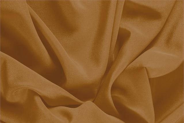 Buy online our clothing and fashion fabric 'Caramel' Brown Silk Crêpe de Chine, Made in Italy. - new tess