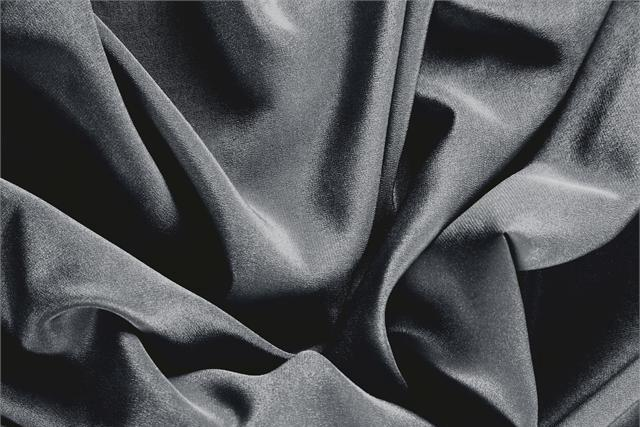Buy online our clothing and fashion fabric 'Antracite' Gray Silk Crêpe de Chine, Made in Italy. - new tess