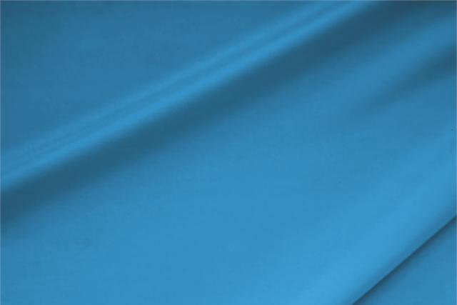 Tissu Crêpe de Chine Stretch Bleu Antille en Soie, Stretch pour vêtements