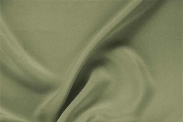 Buy online our clothing and fashion fabric 'Oliva' Green Silk Drap, Made in Italy. - new tess