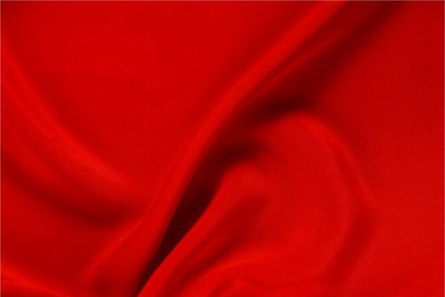 Buy online our clothing and fashion fabric 'Fuoco' Red Silk Drap, Made in Italy. - new tess