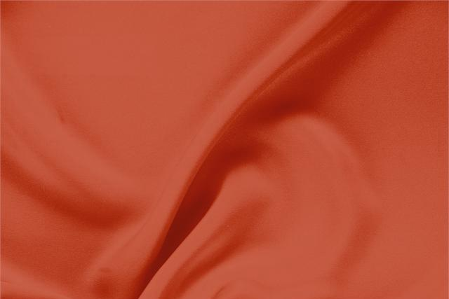 Buy online our clothing and fashion fabric 'Pomodoro' Orange Silk Drap, Made in Italy. - new tess