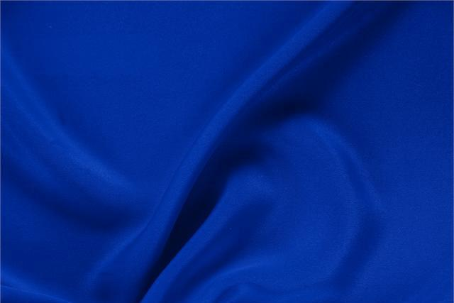 Buy online our clothing and fashion fabric 'Elettrico' Blue Silk Drap, Made in Italy. - new tess