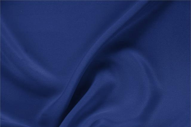 Zaffiro Blue Silk Drap fabric for dressmaking