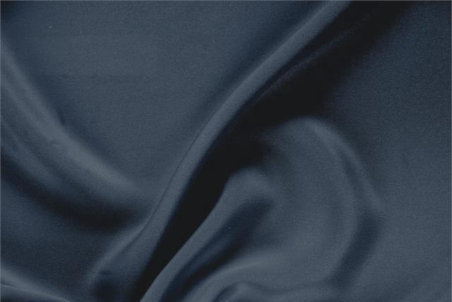 Buy online our clothing and fashion fabric 'Calabrone' Blue Silk Drap, Made in Italy. - new tess