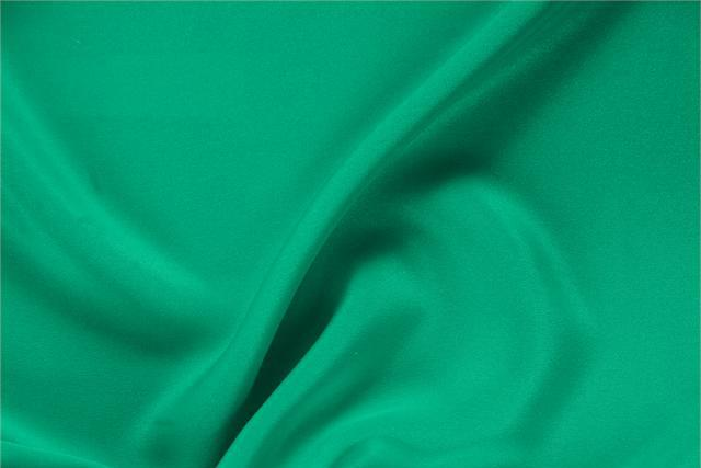 Buy online our clothing and fashion fabric 'Bandiera' Green Silk Drap, Made in Italy. - new tess