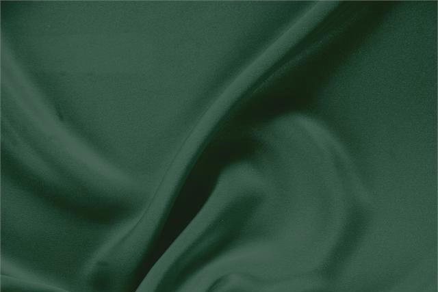Buy online our clothing and fashion fabric 'Pino' Green Silk Drap, Made in Italy. - new tess