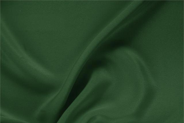 Tessuto Drap Verde Abete in Seta per abbigliamento