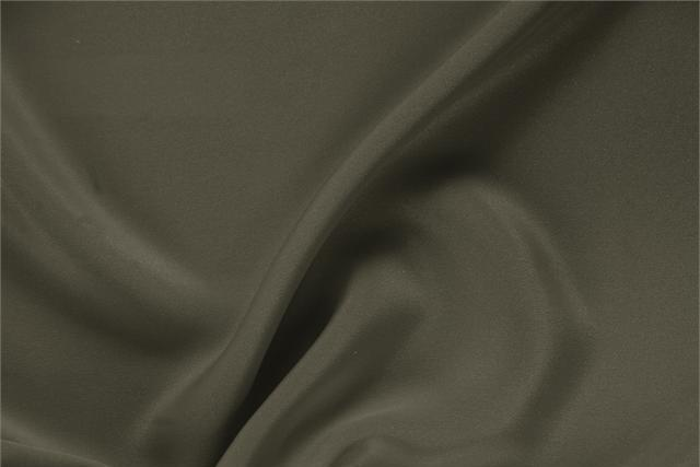 Buy online our clothing and fashion fabric 'Militare' Green Silk Drap, Made in Italy. - new tess