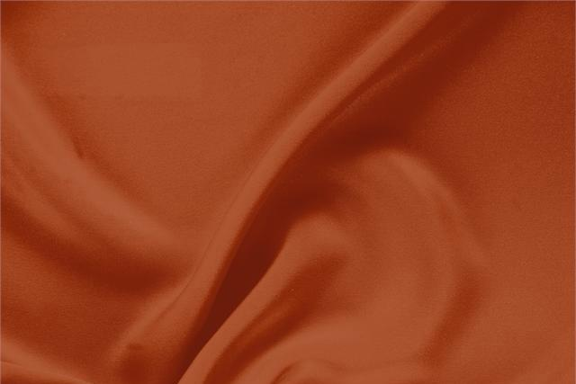Buy online our clothing and fashion fabric 'Mattone' Brown Silk Drap, Made in Italy. - new tess