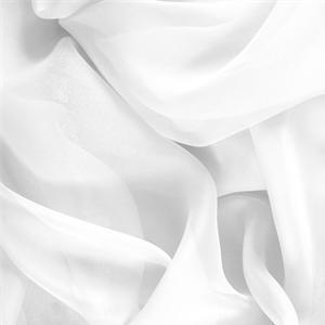 Chiffon Primula Bianco Ottico - tissus pour les vêtements et la mode au mètre