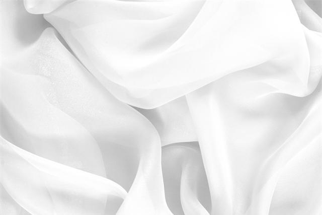 Buy online our clothing and fashion fabric 'Ottico' White Silk Chiffon, Made in Italy. - new tess