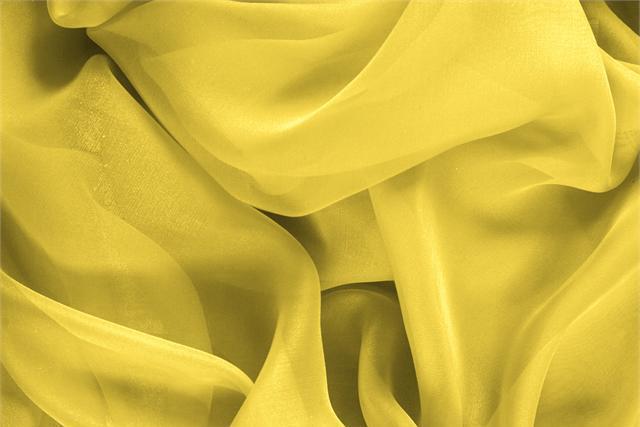 Achetez notre tissu pour habillement, haute couture et mode Chiffon Jaune 'Primula' en Soie, Made in Italy. - new tess